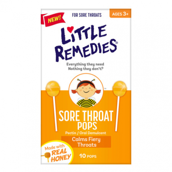 Little Remedies 美国特效天然儿童止咳棒棒糖 (10支装)